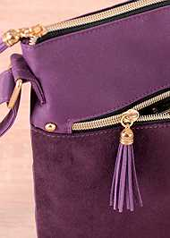Alternate View Faux Suede Crossbody Bag