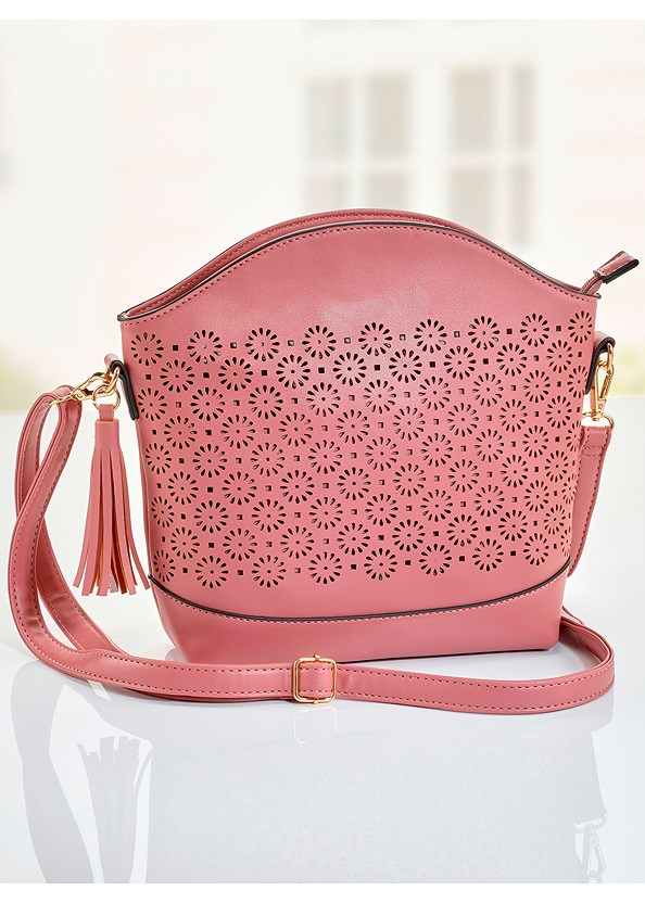 Floral Cut Out Handbag