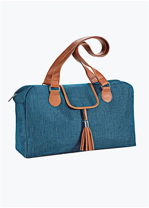 Tassel Detail Handbag,Long Circle Earrings,Long Chain Pendant Necklace