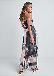 Full back view Strapless Maxi Dress