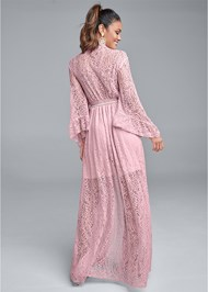 Back View Kimono Sleeve Maxi Dress