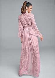 Back View Kimono Sleeve Maxi Dress