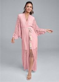 Front View Kimono Sleeve Maxi Dress