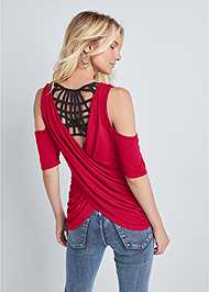 Back View Strappy Back Surplice Top
