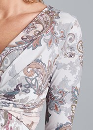Detail front view Paisley Print Top