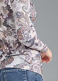 Detail back view Paisley Print Top