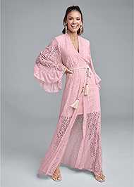 Full front view Kimono Sleeve Maxi Dress
