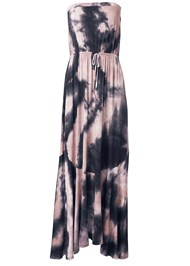 Ghost with background  view Strapless Tie Dye Dress