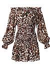 Ghost with background  view Leopard Smocked Dress