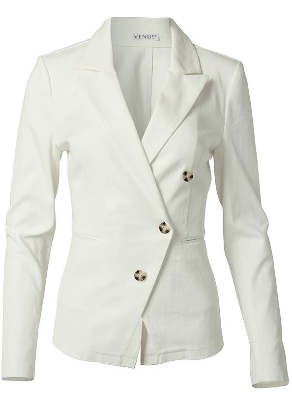 Ghost with background  view Twill Button Front Blazer