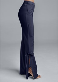 Waist down side view Smoothing Tie Bow Hem Pants