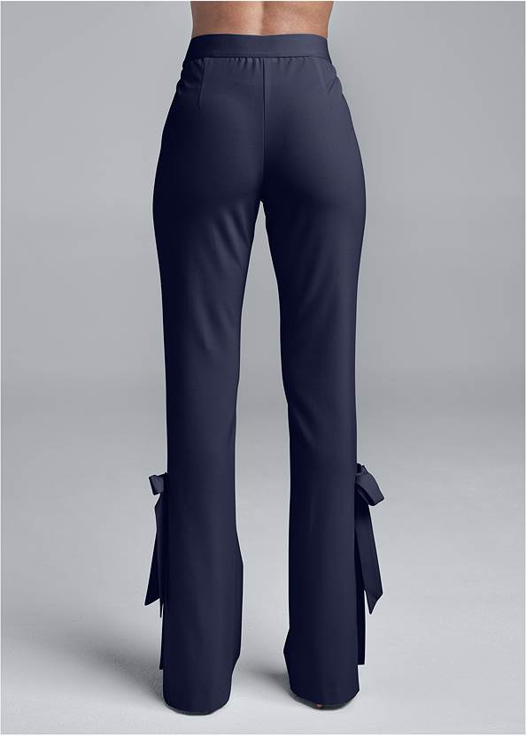 Waist down back view Smoothing Tie Bow Hem Pants
