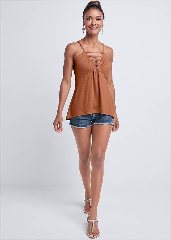 Full front view Strappy Sleeveless Top