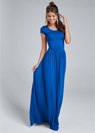 Full front view Twist Back Maxi Dress