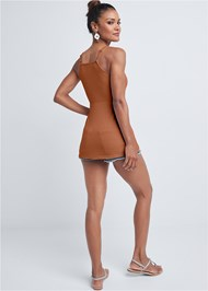 Full back view Strappy Sleeveless Top