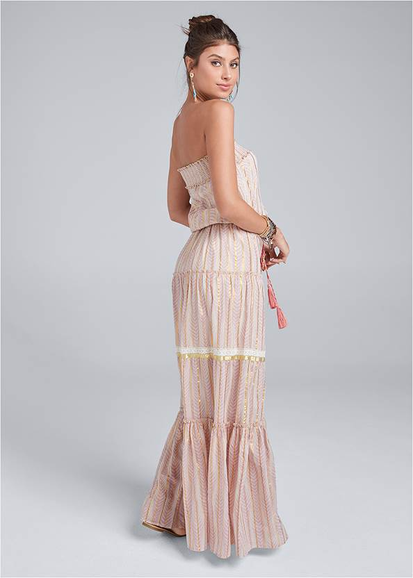 Full back view Embroidered Maxi Dress