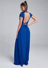 Full back view Twist Back Maxi Dress