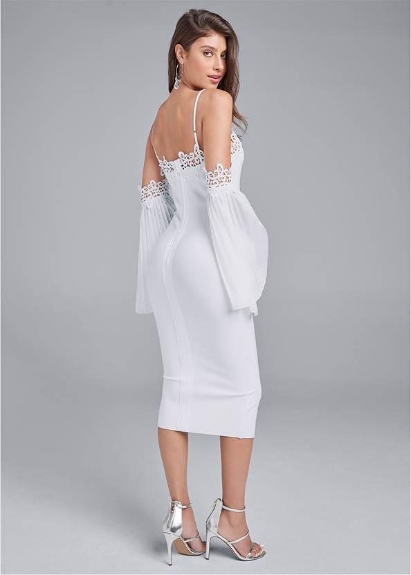 Full back view Cold Shoulder Bandage Dress