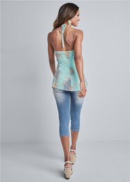 Full back view Tie Dye Lace Top