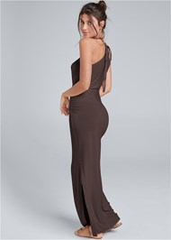 Full back view Halter Neck Maxi Dress