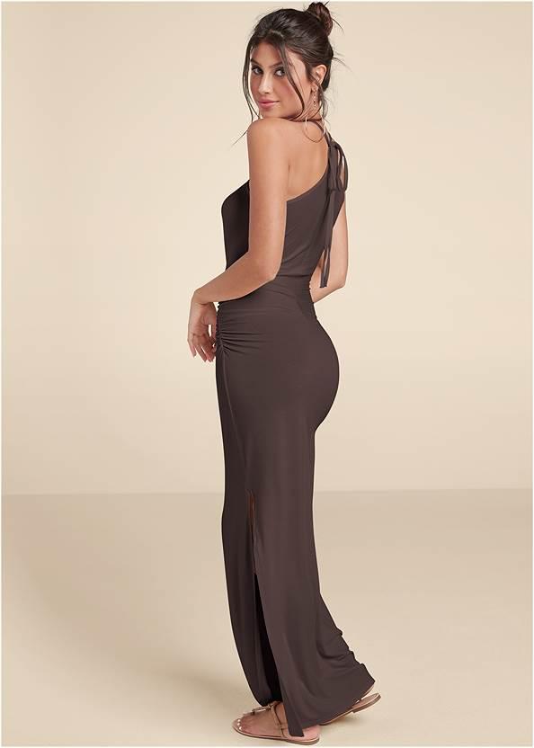 Full back view Halter Neck Maxi Dress