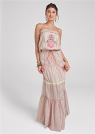 Alternate View Embroidered Maxi Dress