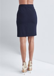 Waist down back view Smoothing Chain Belt Pencil Skirt