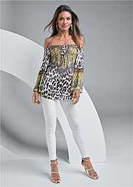 Full front view Animal Print Top