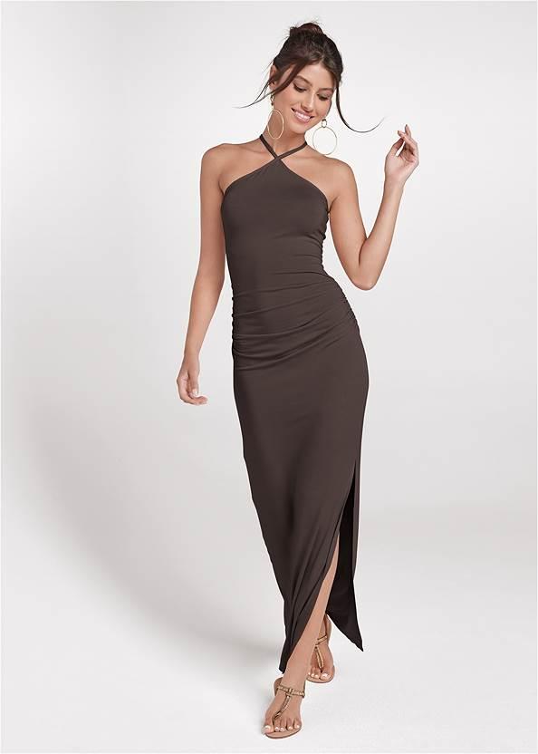 Halter Neck Maxi Dress