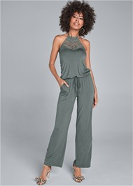 Alternate View Crochet Detail Jumpsuit