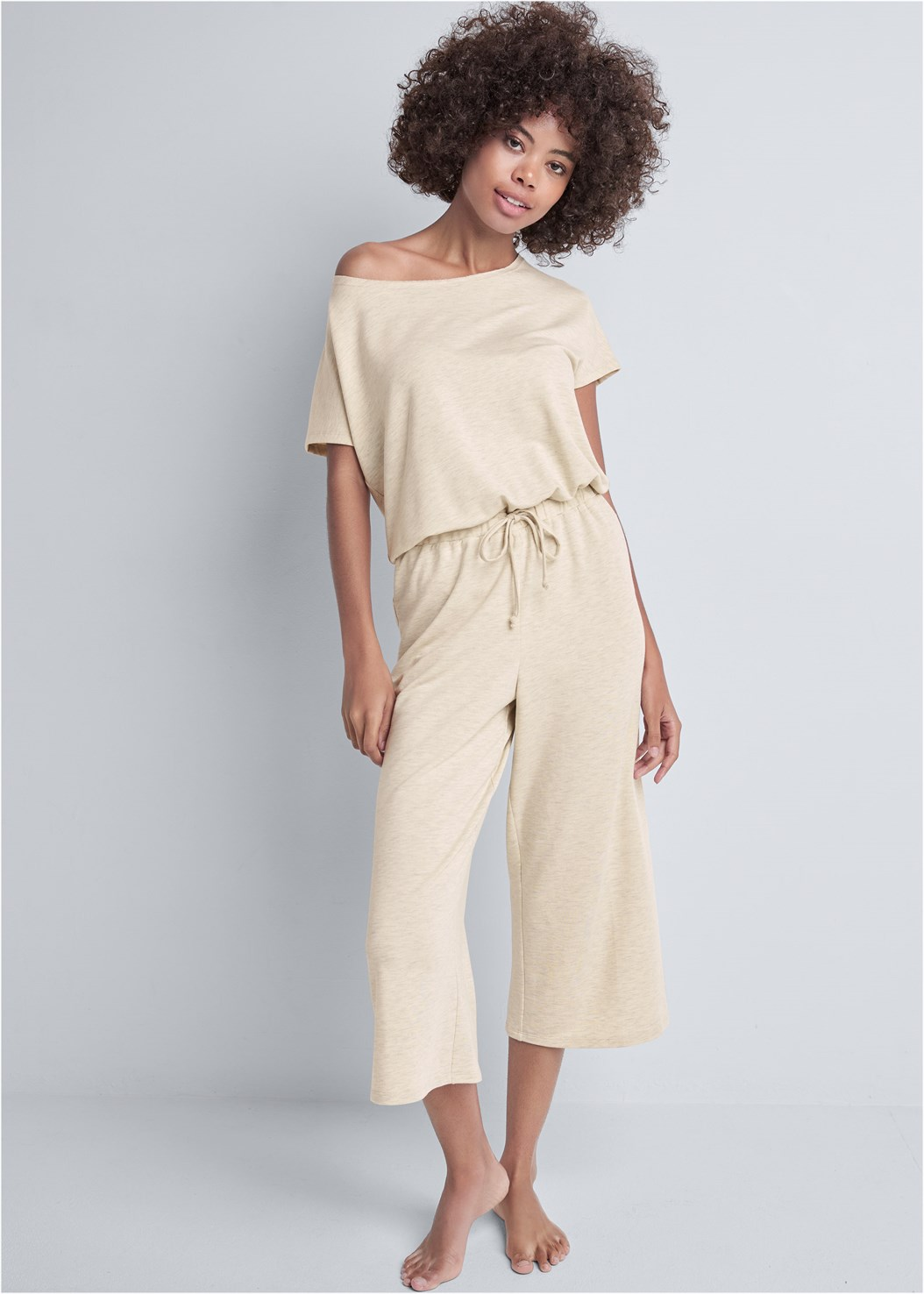 Cozy Off Shoulder Jumpsuit