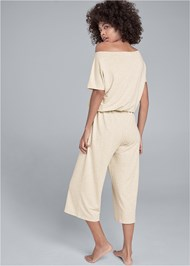Alternate View Cozy Off Shoulder Jumpsuit