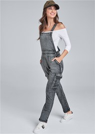 Front View Cargo Pocket Overalls