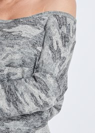 Alternate View Cozy Camo Off Shoulder Top