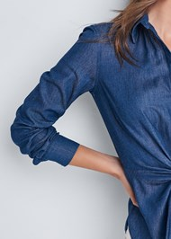 Alternate View Chambray Knot Twist Top