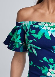 Alternate View Off Shoulder Floral Dress