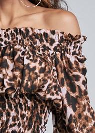 Alternate View Leopard Smocked Dress