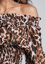 Alternate View Leopard Smocked Dress