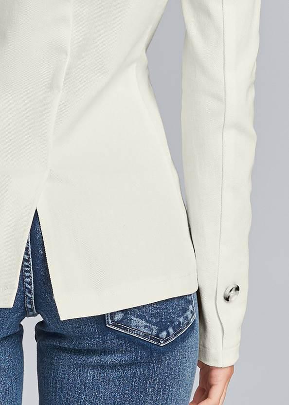 Alternate View Twill Button Front Blazer