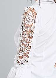 Detail back view Lace Balloon Sleeve Blouse