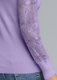 Alternate View Lace Sleeve Sweater