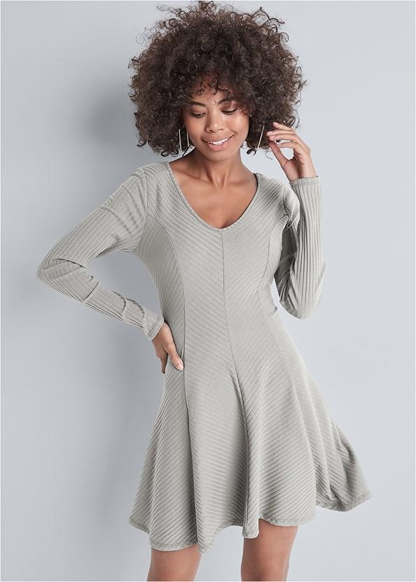 Ribbed Skater Dress,Wirefree Comfort Bra