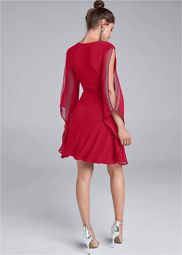 Back View Cold Shoulder Dress
