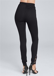 Back View Lace Detail Leggings