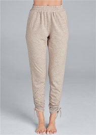 Waist down front view Cozy Drawstring Tie Joggers