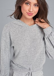 Alternate View Cozy Knot Detail Hacci Sweatshirt