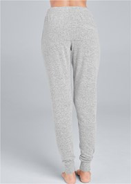 Back View Cozy Lounge Hacci Joggers