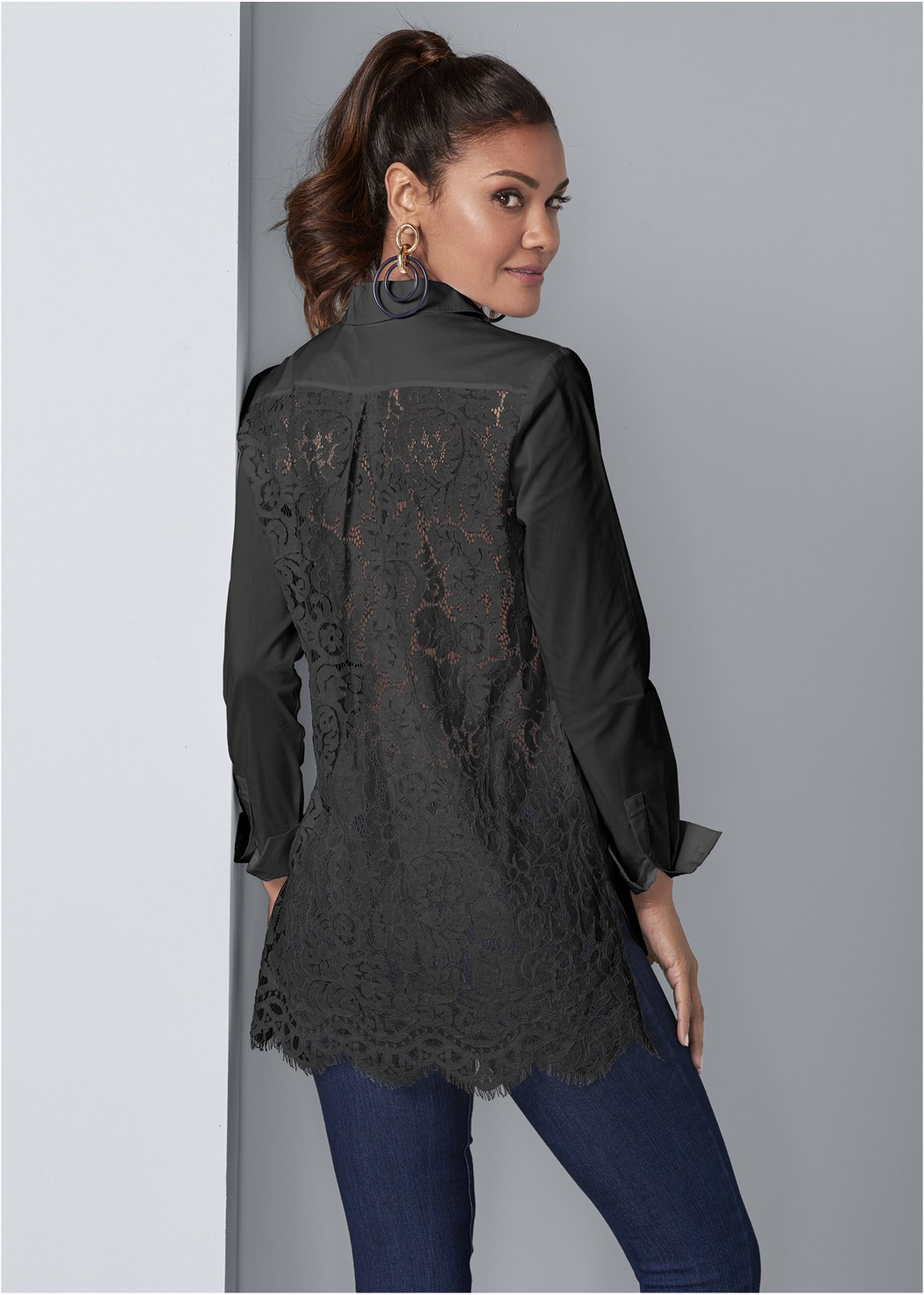 Lace Back Blouse,Western Style Booties