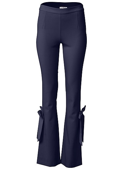 Plus Size Smoothing Tie Bow Hem Pants
