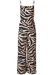 Ghost with background  view Wide Leg Tiger Print Jumpsuit